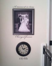 Personalised 'A Moment in Time Changed Forever' ~ Wall sticker / decals (1)